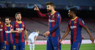 برشلونة سلسلة انتصاراته الأوروبية، بالفوز (2-1) على ضيفه دينامو كييف الأوكراني