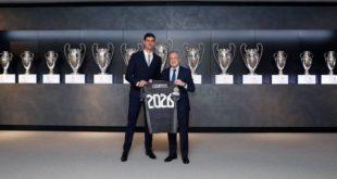 ريال مدريد، ظهر اليوم الإثنين، تمديد عقد حارس مرماه البلجيكي تيبو كورتوا